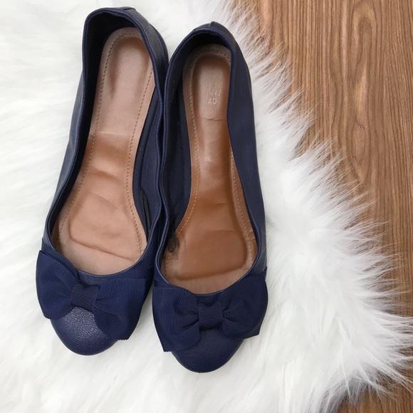 d92c7738cdf3 H M Shoes - H M Blue Ballet Flats With Bow ...